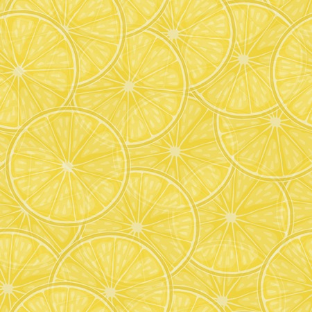 lemon slices: Seamless background with lemon slices. Illustration