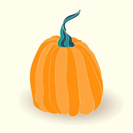 Pumpkin card. illustration of pumpkin isolated on white background. Ilustracja