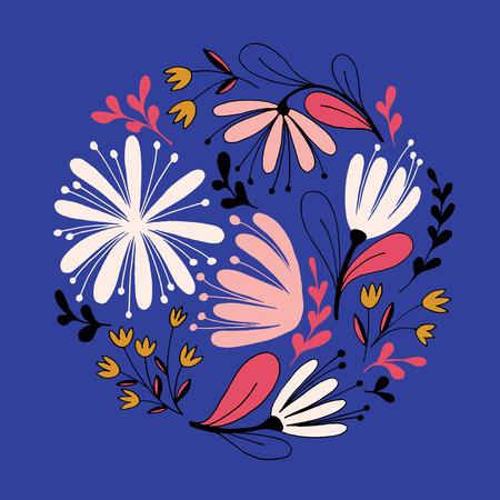 Beautiful Hand drawn Fantasy flowers. Illustration