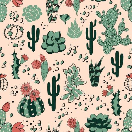 Succulent seamless pattern Reklamní fotografie - 76466305