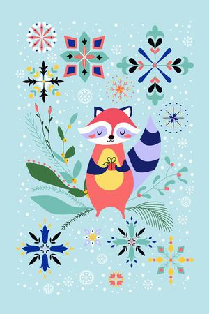 dcor: Happy Raccoon Year Stock Photo