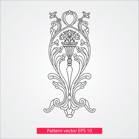 Ornament and decor, design elements. Decoration of the page. Vector illustration. Isolated on white background.