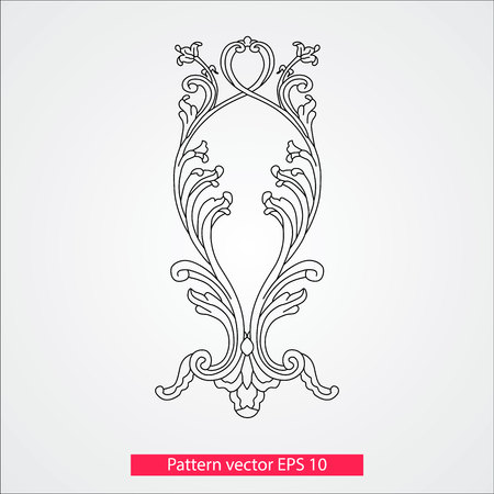 Ornament and decor, design elements. Decoration of the page. Vector illustration. Isolated on white background. Reklamní fotografie - 79129637
