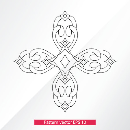 Ornament and decor, design elements. Decoration of the page. Vector illustration. Isolated on light background Ilustrace