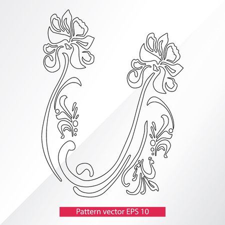 Ornament and decor, design elements. Decoration of the page. Vector illustration. Isolated on white background. Imagens - 81236869