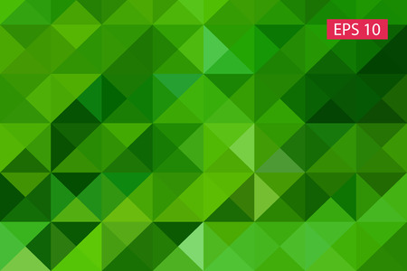 Green abstract geometric background, vector from polygons, triangle background, vector illustration, vector pattern, triangular template, geometric sample Ilustrace