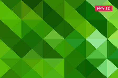 Green abstract geometric background, vector from polygons, triangle background, vector illustration, vector pattern, triangular template, geometric sample Illustration