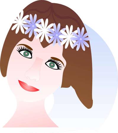 wedding reception decoration: Girl Illustration
