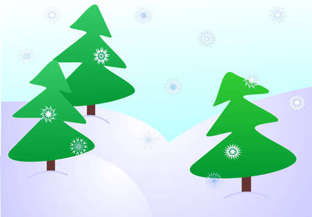 Christmas forest Stock Vector - 1860946