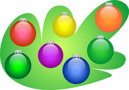 New year decorations Vector