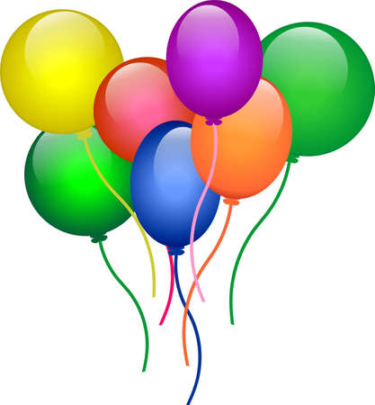 Bright air balloons Stock Vector - 1997436