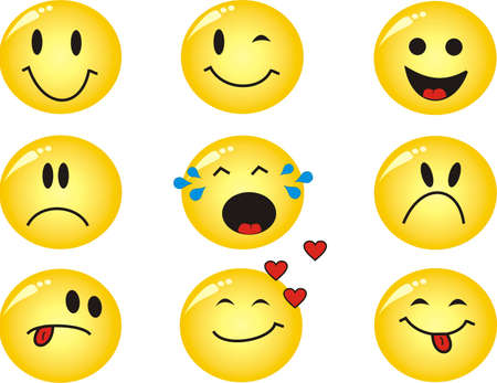 Cool emoticons Illustration