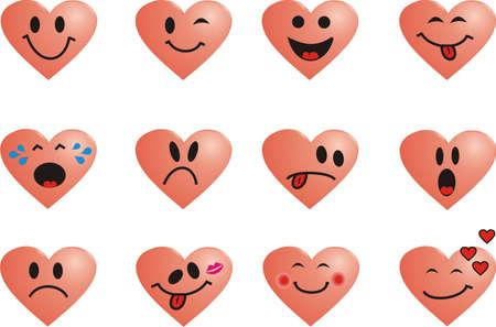 Smile heart Vector