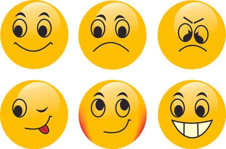 anger kid: Vector emoticon