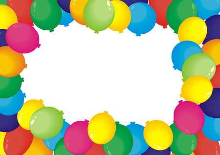 Air balloons frame Çizim
