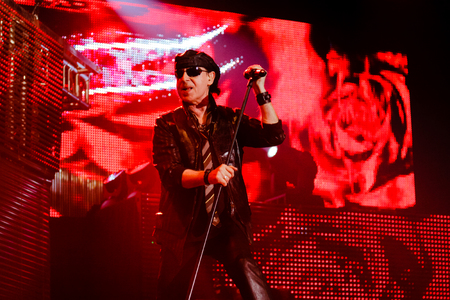 Chelyabinsk Russia - April 22, 2012: Concert of the German rock band Scorpions in the Palace of Sports