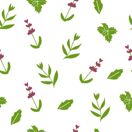 Lavender decorative pattern. Seamless pattern for fabric, paper and other printing and web projects. Hand drawn illustration.