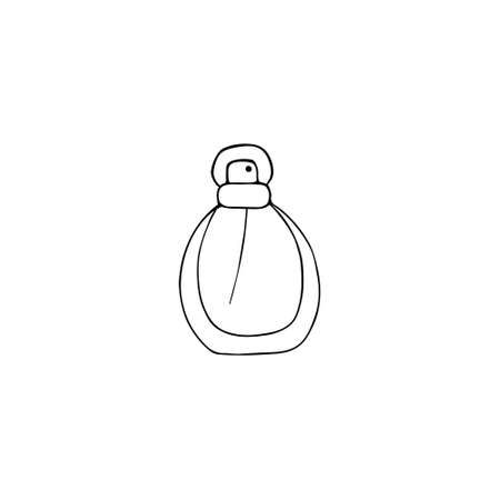 Perfume icon. Fragrance sign. Doodle hand drawn vector graphic. 向量圖像