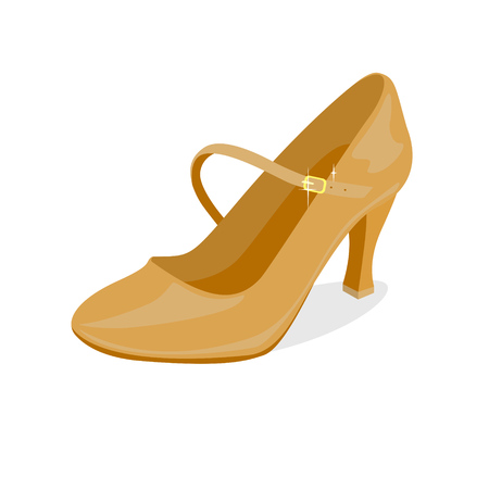 One shoe for ballroom dancing on white background