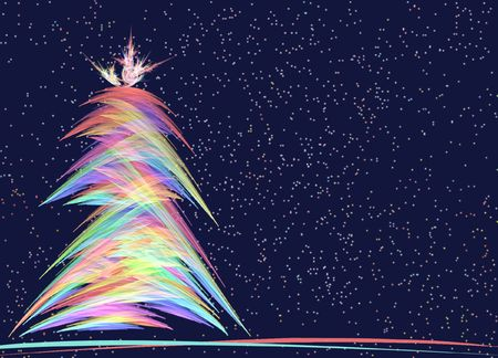 generated Christmas Tree image. Filters. Plugins.