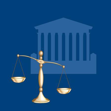 正義のスケール。デジタル イラスト。グラデーション メッシュ。 写真素材 - 382981