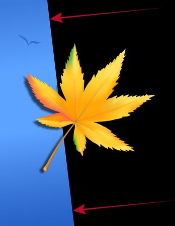 Marijuana can be dangerous. Digital illustration. Gradient mesh. Clipping path. Stock fotó