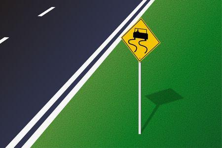 道路標識。デジタル イラスト。