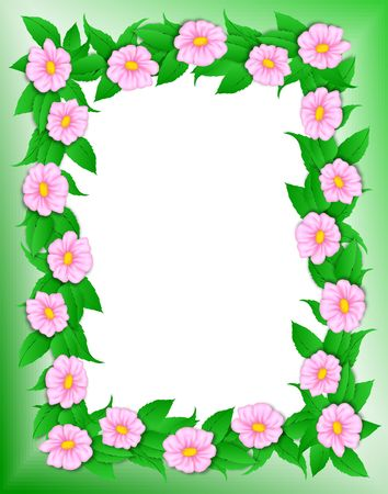 Flower frame with clipping path. Digital illistration. Gradient mesh, gradients.