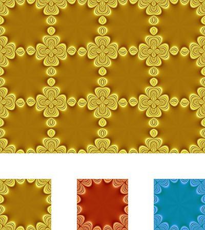 원활한 타일, 금속 - 2 집합입니다. 클리핑 패스가 포함되어 있습니다. 스톡 콘텐츠