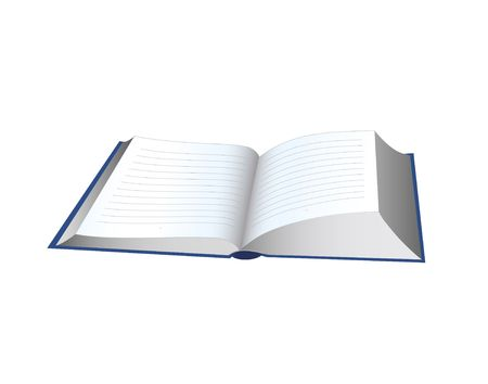 Open book. Digital illustration.
