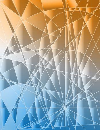 Random fractals on gradient. Background. Digital illustration. Stok Fotoğraf