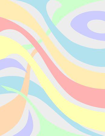 Pale curved fractals. Background. Digital illustration. Imagens