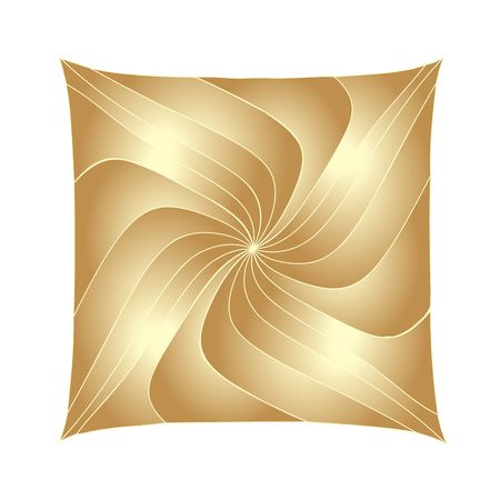 Abstract copper square. Fractals. Digital illustration. Contains clipping path. Reklamní fotografie
