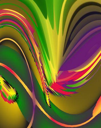 Abstract Rainbow. Digital illustration. Zdjęcie Seryjne