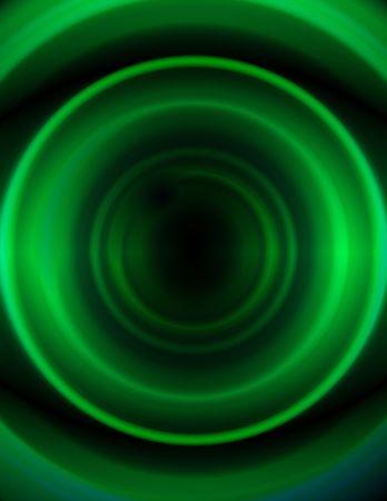 Abstract 3-d digital illustration. Dark Green Circles. Reklamní fotografie