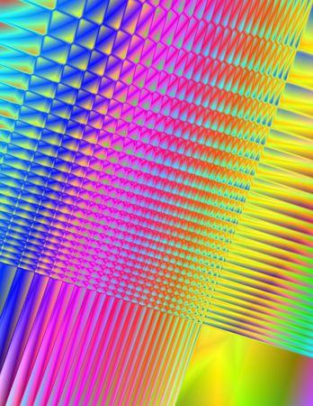 Abstract 3-d digital illustration. Rainbow fractals. Imagens
