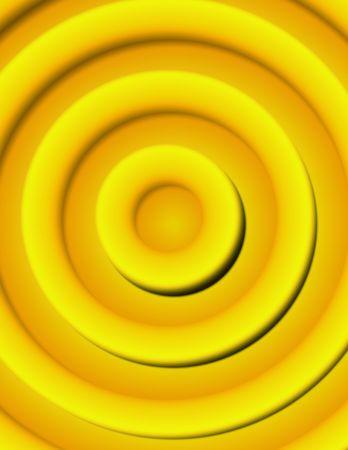 Abstract digital illustration. Golden 3d circles pattern. Imagens