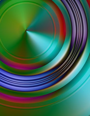 Abstract digital illustration. 3d metallic surface.