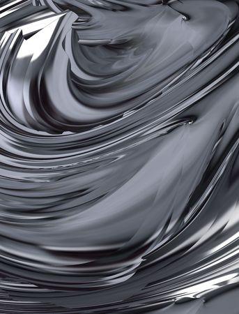 Abstract digital illustration. Silver 3d pattern. Zdjęcie Seryjne