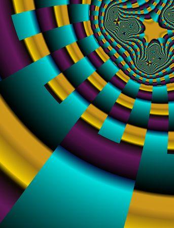 Abstract digital illustration. Bright 3d pattern. Zdjęcie Seryjne