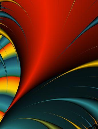 Abstract digital illustration. Bright tornado.