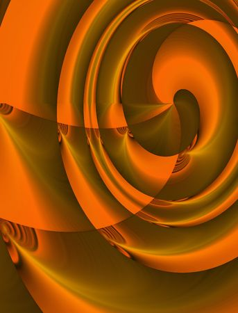 Abstract digital illustration. Orange vortex. Zdjęcie Seryjne - 513253
