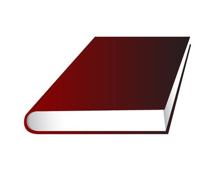 Book on white. Digital illustration. Contains clipping path.