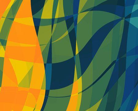 Abstract illustration: orange-blue. Bright. Zdjęcie Seryjne - 550124