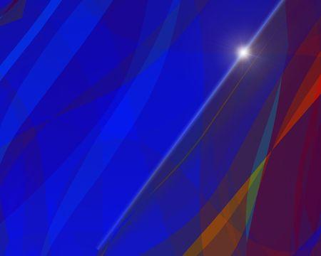 Abstract illustration: star on blue skies. Bright. Zdjęcie Seryjne
