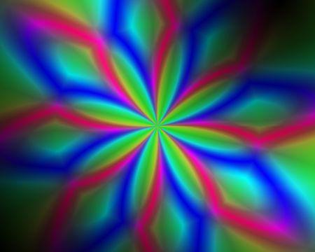 Abstract illustration: red-green mosaic flower Zdjęcie Seryjne
