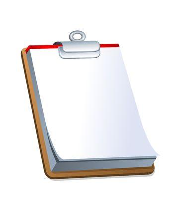 クリップボード。デジタル イラストです。グラデーション。クリッピング パスが含まれています。