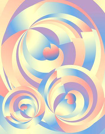 Abstract Radial Fractals. Digital illustration.