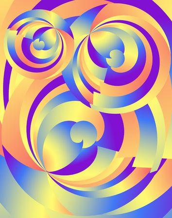 Abstract Radial Fractals. Bright digital illustration Фото со стока