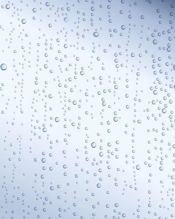 Waterdrops on window. Digital illustration. Gradient mesh.